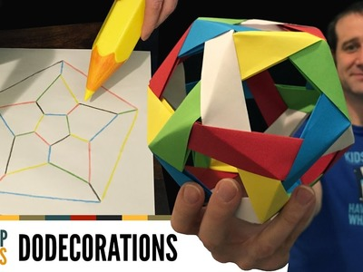How to make an edge-coloured origami dodecahedron