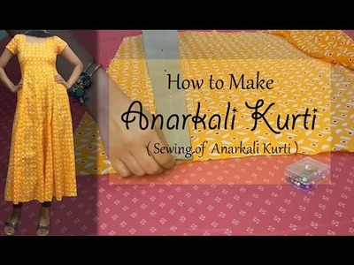 How to make Anarkali Kurti | Sewing of Anarkali Kurti | Princess cut Bodice