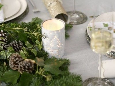 How to make candle holders from punched tin cans