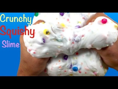 How To Make Crunchy Squishy Slime Without Borax,Liquid Starch or Detergent!! DIY Beads Slime