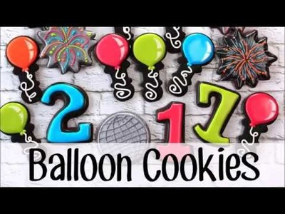 How to Make Decorated Party Balloon Cookies