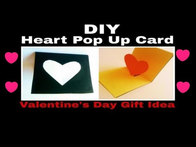How to Make Heart Pop Up Card | DIY | Valentine's Day Pop Up Card