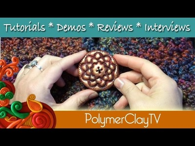 How to make large polymer clay buttons