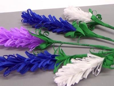How to make lavender paper flower | Flower making for beginners. DIY Paper Crafts. Julia DIY