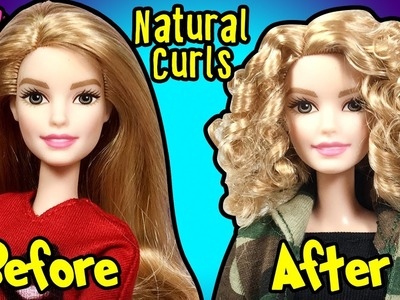 How to Make Natural Curly Hairstyle using Barbie Doll - DIY Doll Hairstyles Tutorial