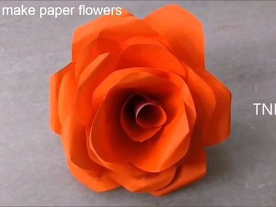 How to make paper flowers | easy origami flowers for beginners, simple life hacks, DIY