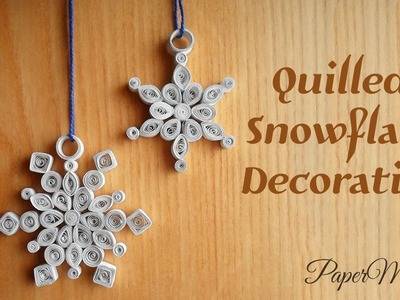 How to make Quilled Snowflake Decoration With paper | Christmas Snowflake | DIY | PaperMade