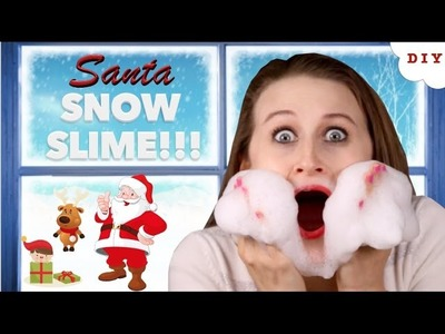 How To Make Santa Snow Slime - Easy 2 Ingredient Christmas Sensory Toy For Kids