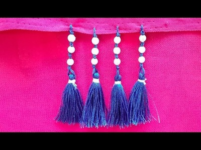 How to make saree kuchu,simple saree kuchu for beginners,saree tassel in easy method