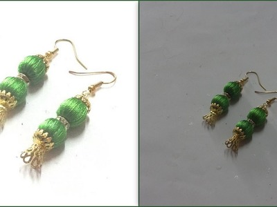 How to make Silk Thread Beads Earrings