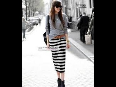 How to Make Straight. A-Line Skirt