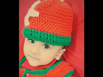 How to make the crochet Christmas  baby sweater