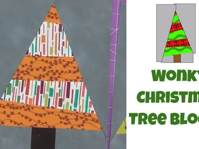 How to Make Wonky Christmas Tree Quilt Blocks - Easy Quilting Tutorial with Leah Day