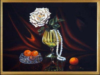 How to paint a white rose in old masters style,  with Svetlana Kanyo