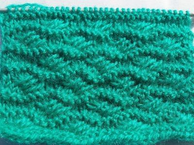 Knitting Pattern  - Cross Stitch pattern | Stitch Design| हिंदी बुनाई डिजाइन