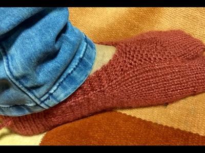 Ladies Thumb Socks Knitting with Two Needles (अंगूठे  वाली  जुराब दो सलाइयों  से )