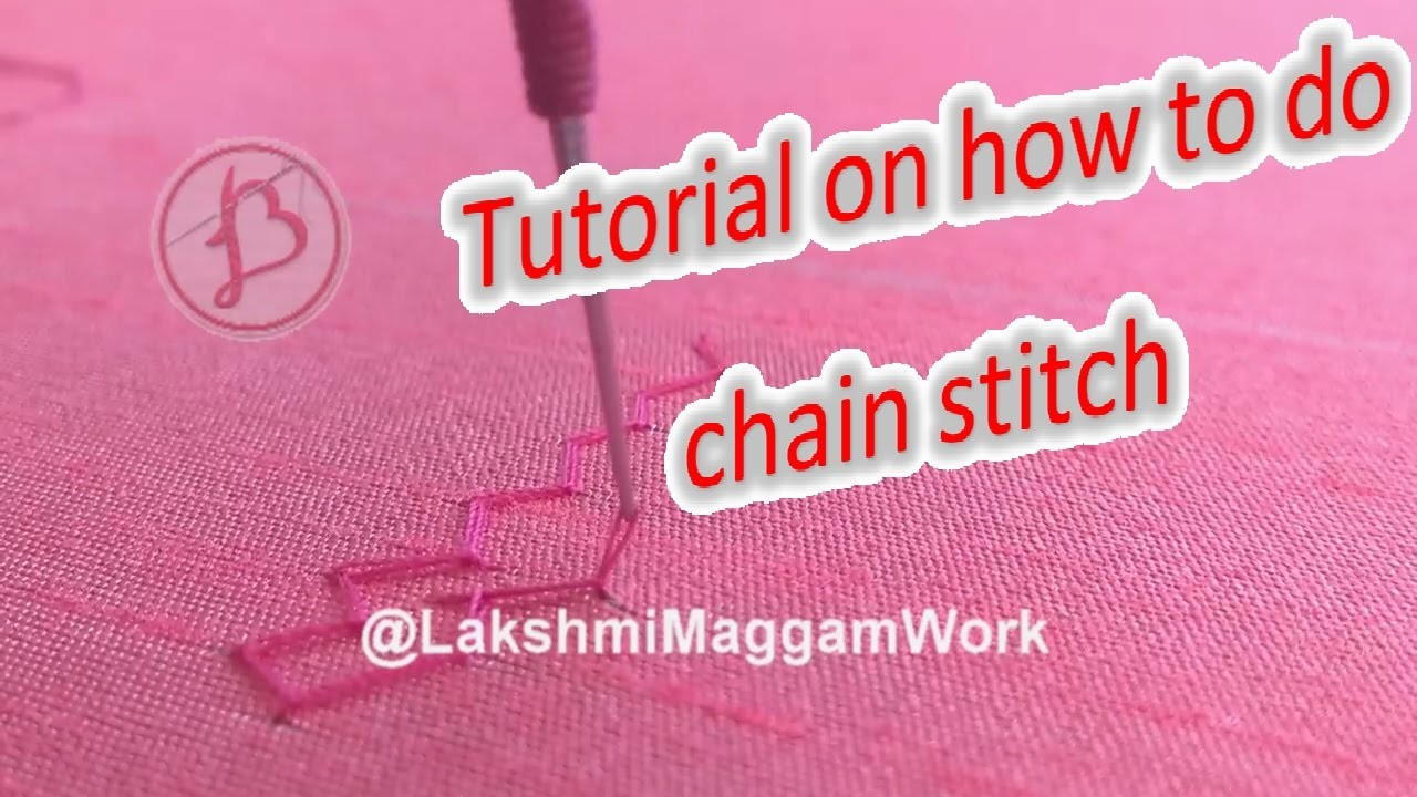 Lakshmi Maggam Work || Tutorial on how to do chainstitch for begineers