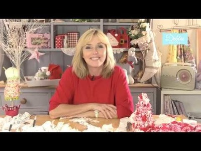 Learn how to make a gorgeous fabric festive bauble with Debbie Shore