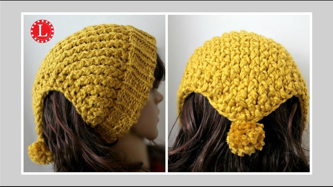 Loom Knitting Headband Scarf Ear Warmer Hat On A Round Loom