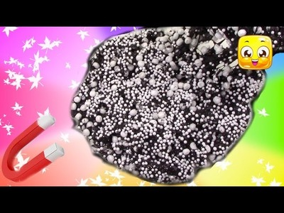 Magnetic Slime DIY! Giant Floam Putty How To Make without borax! Super Easy Slime Recipe!