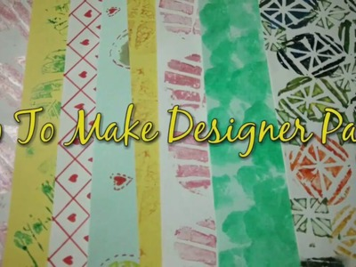 Make Designer Paper At Home | How To | CraftLas