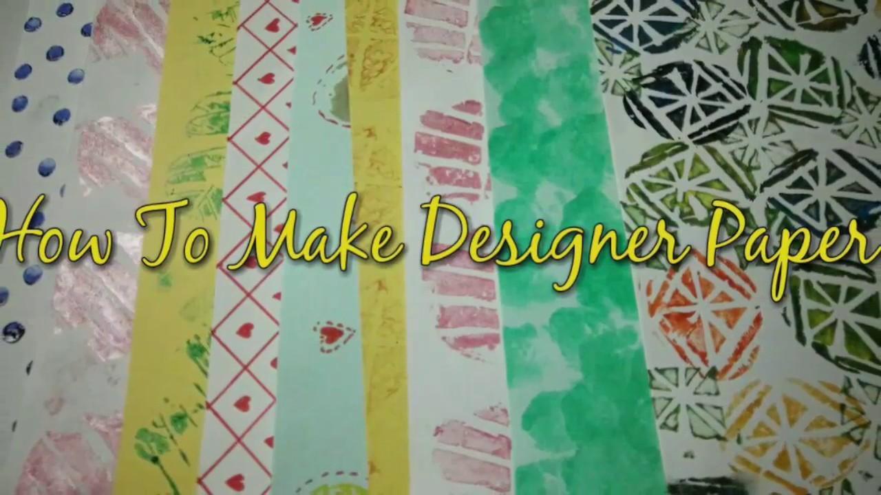 Make Designer Paper At Home | How To | CraftLas