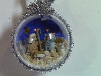 """Silent Night"" DIY Nativity Scene- A Twelve Ornament Challenge Piece"