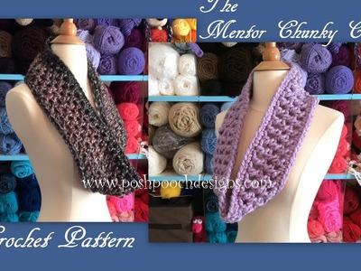 The Mentor Chunky Cowl Crochet Pattern