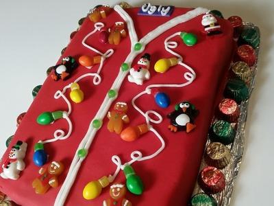 Ugly Christmas Sweater Cake - How to Make