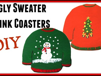 Ugly Christmas Sweater Coasters | Another Coaster Friday | DIY Project | Craft Klatch | How To