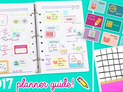 2017 Planner Guide!! DIY Stickers, Covers, and Organizational Tips! ✏️