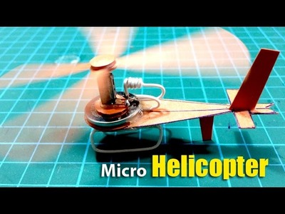Amazing Smallest Electric Helicopter by Paper (Micro Paper Elicottero) | Creative Channel