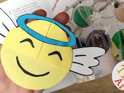 Angel Emoji Bookmark DIY for Christmas - Christmas Emoji DIY - DIY Bookmark Designs