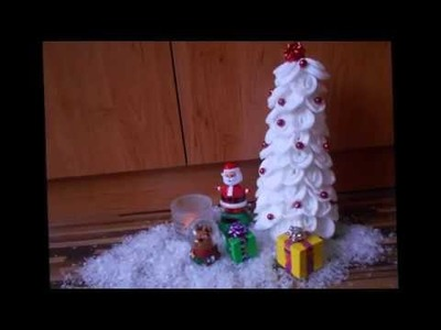 Christmas Tree Made Of Cotton Pads + Tiny Gifts!!! │DIY