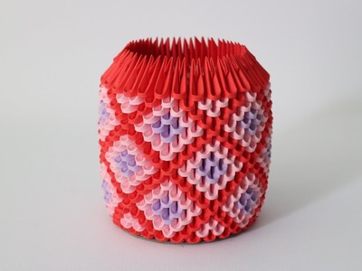 DIY: 3D Origami Brush.Pen Holder (Inspired by Diamond)