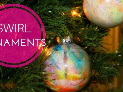 DIY Christmas Decorations | DIY Swirl Ornaments - Unicorns! || SHELLEY BEANS