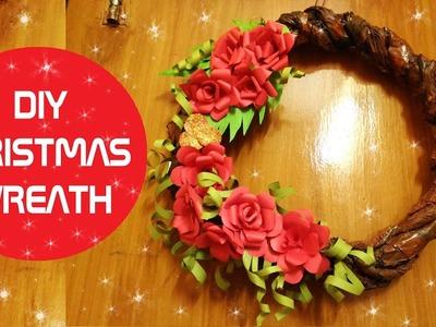 DIY CHRISTMAS WREATH FROM PAPER   EASY CHRISTMAS DECOR 2016