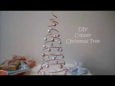 DIY Copper Coil Christmas Tree