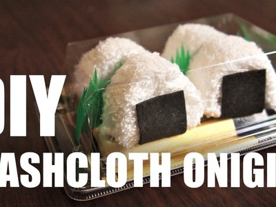 DIY GIFT IDEA | Washcloth ONIGIRI & SUSHI - easy & inexpensive homemade presents