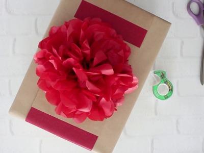 DIY Gift Topper: Tissue Paper Flowers