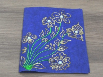 DIY~Greeting Card~Golden Glitter~Simple Steps
