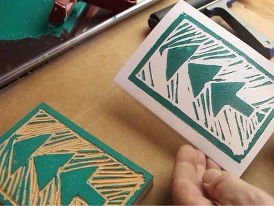 DIY Greeting Cards - Lino Block Printing - GardenFork