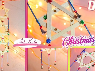 DIY How to make christmas star | Popscile stick crafts | Artkala