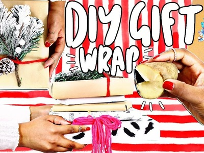 DIY Pinterest Holiday Gift Wrap Ideas! | TanaMontana100