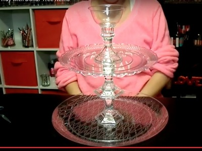 DIY: Tiered Tray with Dollar Tree Items