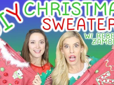 DIY Ugly Christmas Sweaters w. Rebecca Zamolo!!