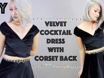 DIY: Velvet Cocktail Dress W. Corset Lace Up Back