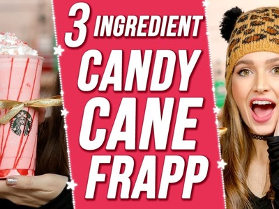 EASY DIY STARBUCKS CANDY CANE FRAPPUCCINO?! 3 items Or Less w. Courtney Randall