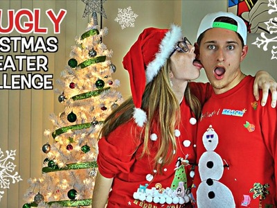 EPIC DIY UGLY CHRISTMAS SWEATER CHALLENGE! (Boyfriend vs Girlfriend)