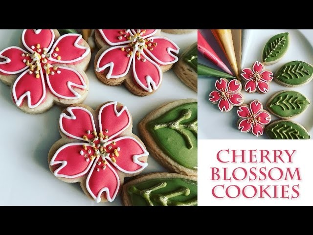 How to decorate flower cookies   Cherry Blossom Design